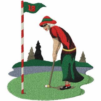 Golf spielende Frau Klaus