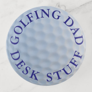 Golf spielender Vati-Golfballrunder Dekoschale