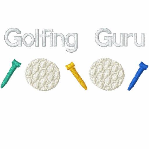 Golf spielendes Guru Bestickte Polos