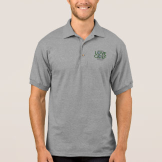 Golf spielendes polo shirt