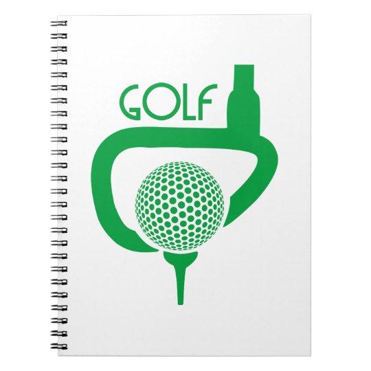 Golf Spiral Notizblock