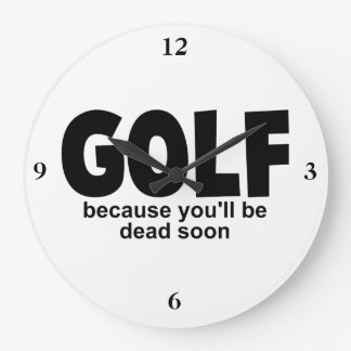 Golf vor Tod Große Wanduhr