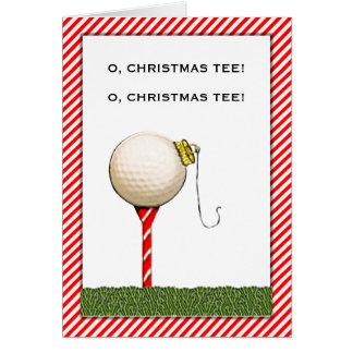 Golf-Weihnachtsgruß Karte