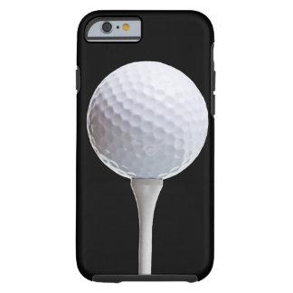 Golfball auf Schwarzem - kundengebundene Schablone Tough iPhone 6 Hülle