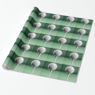 Golfball auf T-Stück Geschenkpapier