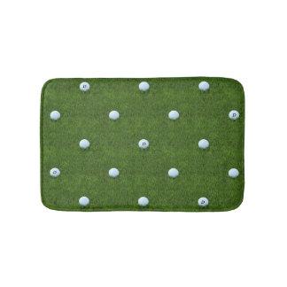 Golfball-Monogramm auf Gras-Grün-Bad-Matte Badematte