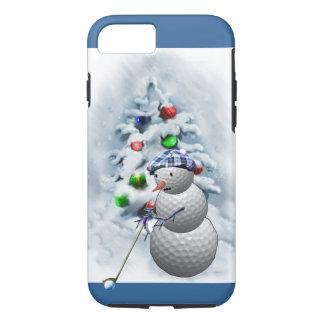 Golfball-Schneemann-Weihnachten iPhone 7 Hülle