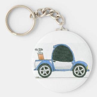 Golfmobil Keychain Standard Runder Schlüsselanhänger