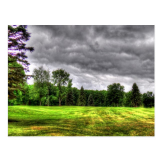 Golfplatz-Bild Postkarte