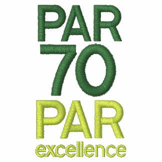 Golfspieler-70. Geburtstags-Party-Shirts Besticktes Shirt