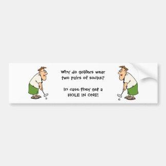 Golfspieler-Autoaufkleber-humorvoller Golfspieler