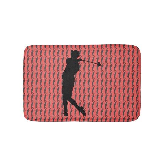 Golfspieler Badematte