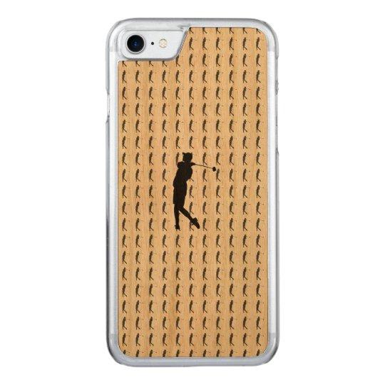 Golfspieler Carved iPhone 7 Hülle