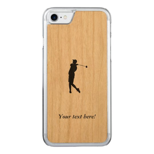 Golfspieler Carved iPhone 7 Hülle
