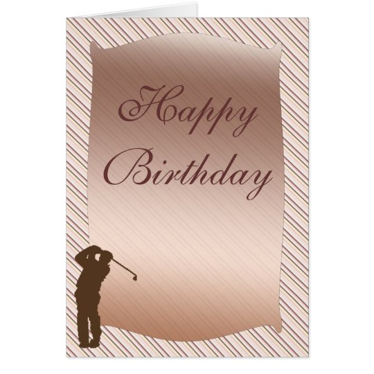 Golfspieler-Geburtstags-Karte Grußkarte