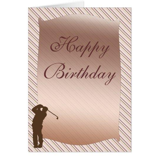 Golfspieler-Geburtstags-Karte Karte