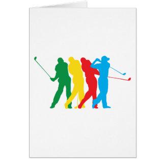 Golfspieler in der Bewegung Karte