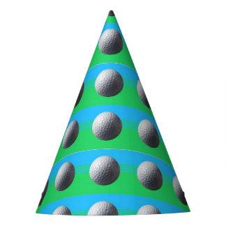Golfspieler innerhalb der Partyhüte Partyhütchen