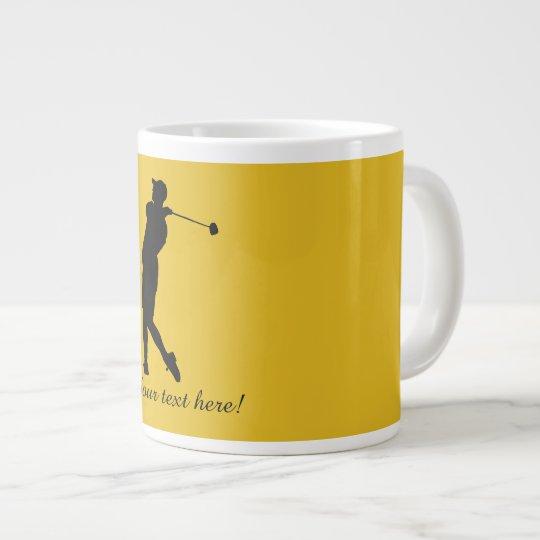 Golfspieler Jumbo-Tasse