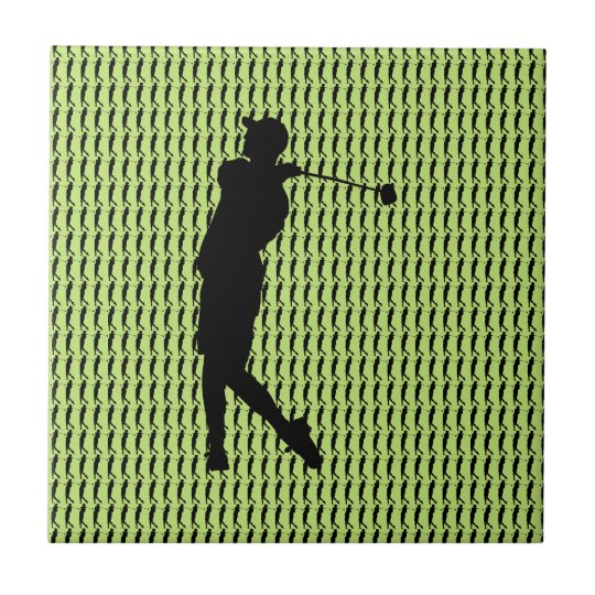 Golfspieler Kleine Quadratische Fliese
