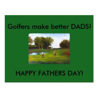 Golfspieler machen bessere VATIS Postkarte
