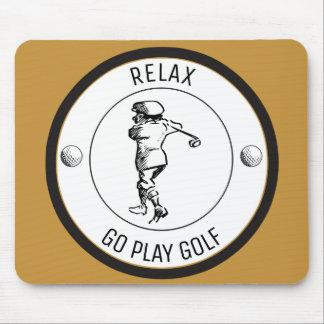 Golfspieler Mousepad