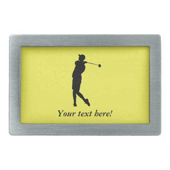 Golfspieler Rechteckige Gürtelschnallen