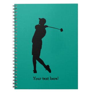 Golfspieler Spiral Notizblock