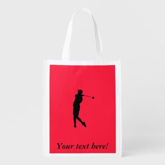 Golfspieler Wiederverwendbare Einkaufstasche