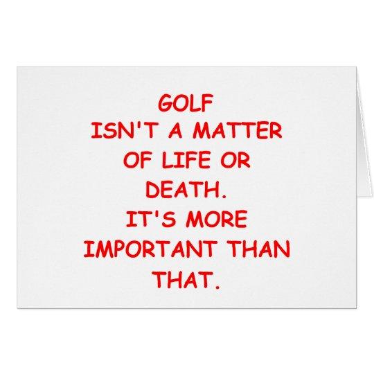 Golfwitz Grußkarte