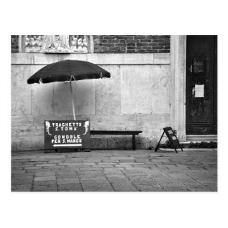 Gondoliere-Stand-Postkarte Postkarte