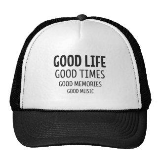 Good Life – Good Time – Good Music Retrokultmütze