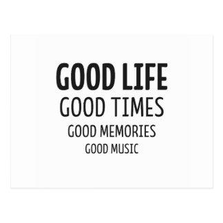 Good Life – Good Time – Good Music Postkarten