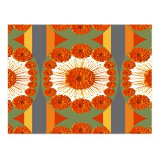 Goodluck Geste: Blumen-Ringelblumen-Schönheit Postkarte