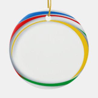 Google-Farben Keramik Ornament