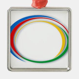 Google-Farben Silbernes Ornament