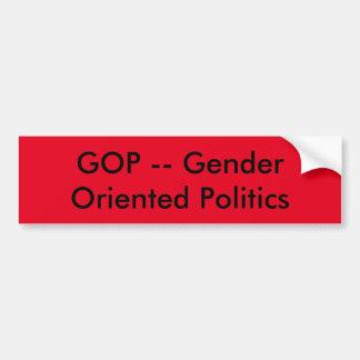 Gop-Geschlechtspolitik Autoaufkleber