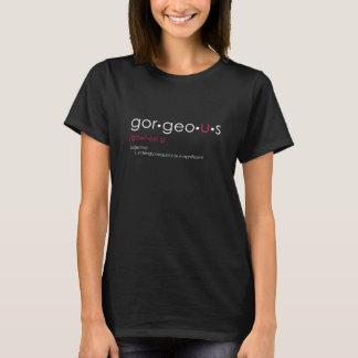 Gor•geo•u•grafisches schwarzes T-Stück s T-Shirt