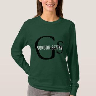 Gordon-Setzer-Zucht-Monogramm T-Shirt