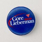 Gore-Lieberman 2000 - Knopf Runder Button 5,7 Cm