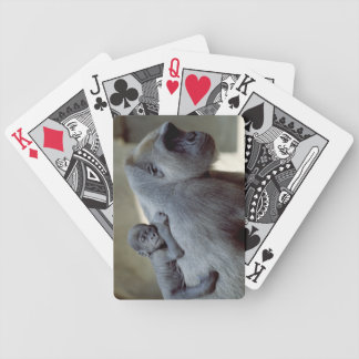 Gorilla-Mutter und Baby Bicycle Spielkarten