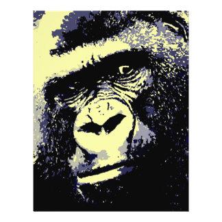 Gorilla-Porträt Flyerbedruckung