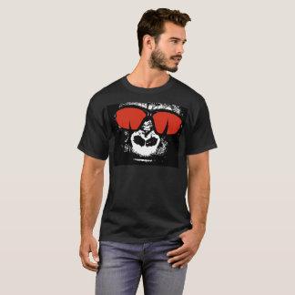 Gorilla-roter Aufflackern-Nasen-Halloween-GlasT - T-Shirt