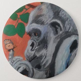 Gorilla- u. Schmetterlingsknopf Runder Button 15,3 Cm