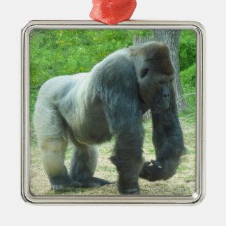 Gorilla-Verzierung Silbernes Ornament