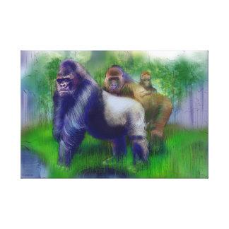 Gorillas in unserer Mitte Leinwanddruck