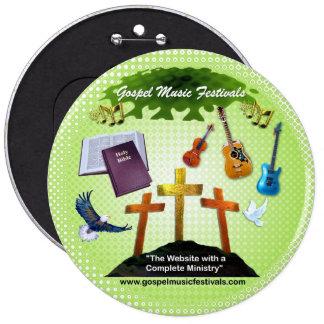 Gospelmusik-Festivals Runder Button 15,3 Cm
