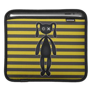 Goth gelbes und schwarzes Häschen Sleeve Für iPads