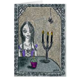 Goth Halloween Grußkarte