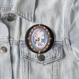 Goth Mädchen Runder Button 7,6 Cm